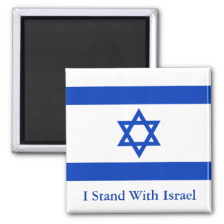 I Stand With Israel Square Magnet
