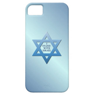 I Stand With Israel Star of David on Blue iPhone 5 Cases