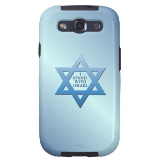 I Stand With Israel Star of David on Blue Samsung Galaxy SIII Cover