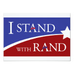 """I Stand With Rand 5"""" X 7"""" Invitation Card"""
