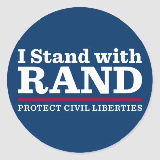 I Stand With Rand Classic Round Sticker