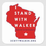 I Stand With Scott Walker Square Sticker
