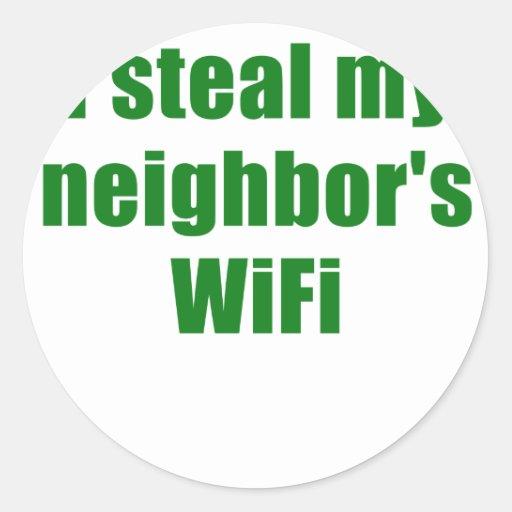 I Steal my Neighbors Wifi Stickers