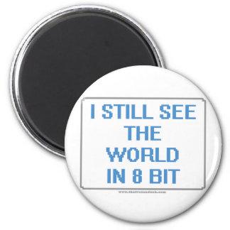 I Still See the World in 8 Bit Fridge Magnets