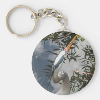 I Still See You (Great Blue Heron) Basic Round Button Key Ring