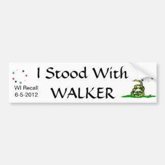 I Stood with Walker Bumper Sticker