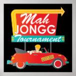 I Stop for Mah Jongg Retro Sign Poster
