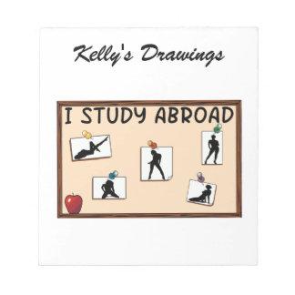 I Study Abroad Scratch Pads