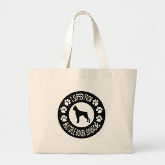 I Suffer From Multiple Boxer Syndrome Large Tote Bag
