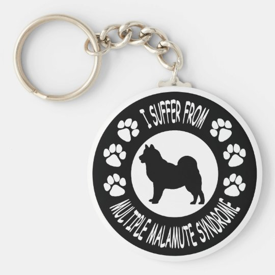 I Suffer From Multiple Malamute Syndrome Basic Round Button Key Ring