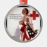 I Summon You To Comradeship In The Red Cross~WW I Christmas Ornaments
