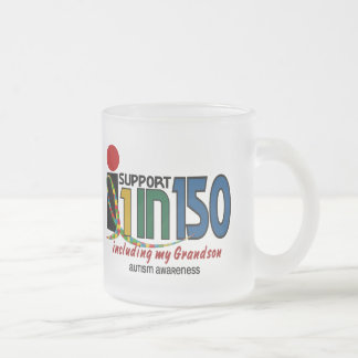 I Support 1 In 150 & My Grandson AUTISM AWARENESS Mugs