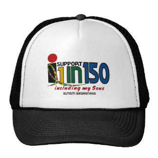 I Support 1 In 150 & My Sons AUTISM AWARENESS Cap