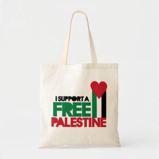 I support a free palestine budget tote bag