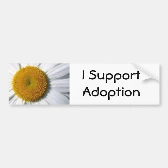 I Support Adoption bumper sticker