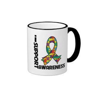 I Support Autism Awareness Coffee Mugs
