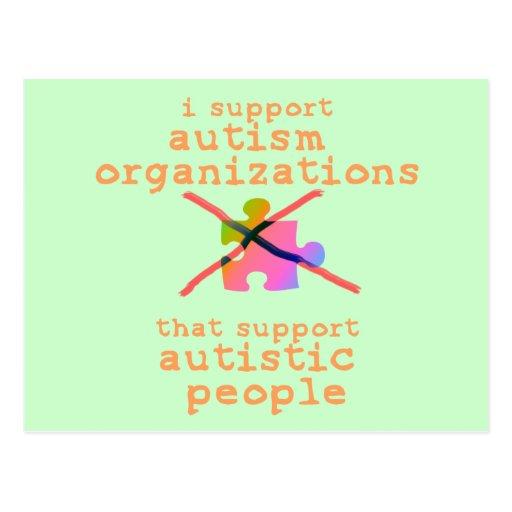 I Support Autism Organizations Postcards