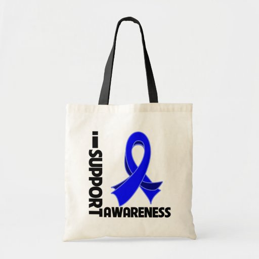 I Support Colon Cancer Awareness Canvas Bag