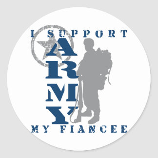 I Support Fiancee 2 - ARMY Round Sticker