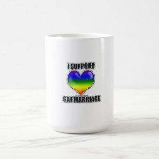 I support gay marriage coffee cup mug