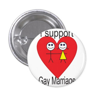 I support Gay marriage Pinback Button