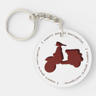 I support general hooliganism Keychain