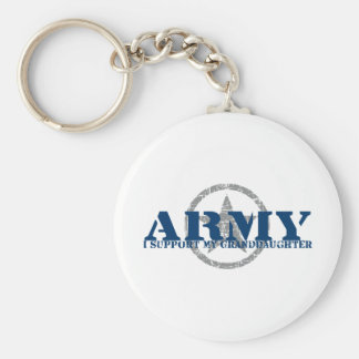 I Support Granddaughter - ARMY Key Ring