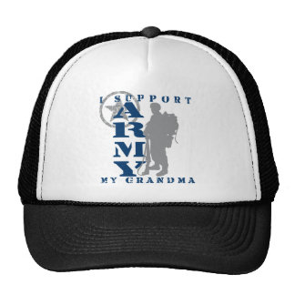 I Support Grandma 2 - ARMY Mesh Hats