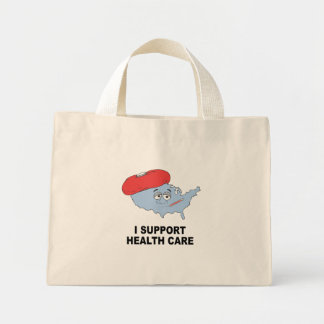 I SUPPORT HEALTH CARE TOTE BAG