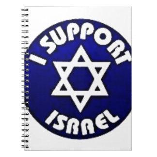 I Support Israel - Star of David מגן דוד Spiral Notebooks