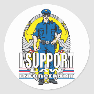 I Support Law Enforcement Classic Round Sticker