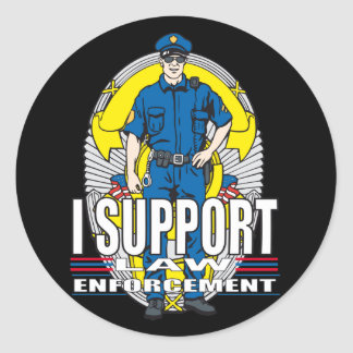 I Support Law Enforcement Round Sticker