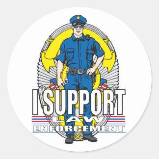 I Support Law Enforcement Round Sticker