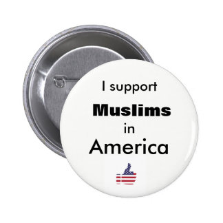 I Support Muslims in America Thumbs Up Button