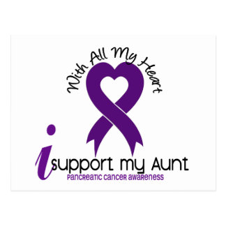 I Support My Aunt Pancreatic Cancer Postcard