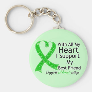 I Support My Best Friend With All My Heart Keychain