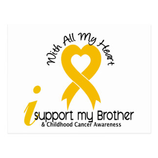 I Support My Brother Childhood Cancer Postcard