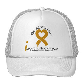 I Support My Brother-In-Law Appendix Cancer Hats