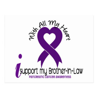 I Support My Brother-In-Law Pancreatic Cancer Postcard