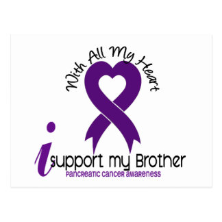 I Support My Brother Pancreatic Cancer Postcard