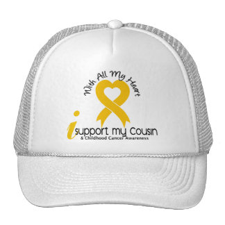 I Support My Cousin Childhood Cancer Mesh Hats