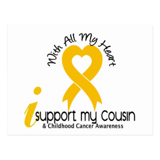 I Support My Cousin Childhood Cancer Postcard