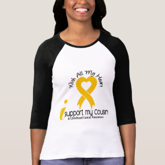 I Support My Cousin Childhood Cancer Shirts