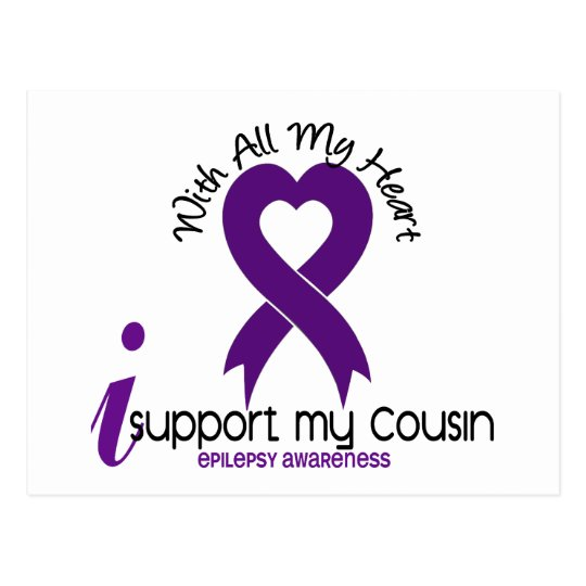 I Support My Cousin Epilepsy Postcard