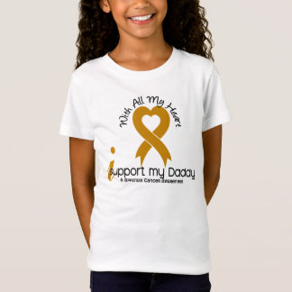 I Support My Daddy Appendix Cancer T-Shirt