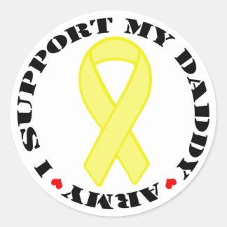 I Support My Daddy - Army Round Sticker