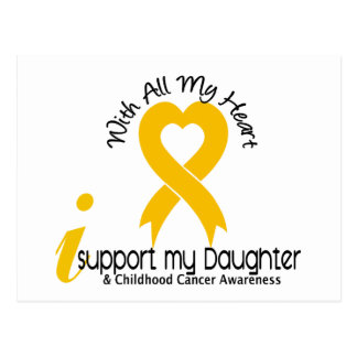 I Support My Daughter Childhood Cancer Postcard