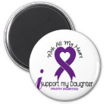 I Support My Daughter Epilepsy 6 Cm Round Magnet