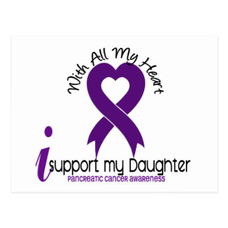 I Support My Daughter Pancreatic Cancer Postcard