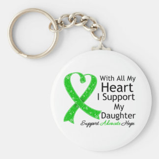 I Support My Daughter With All My Heart Basic Round Button Key Ring